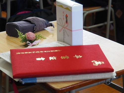 卒業式コサージュ